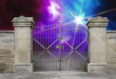 Wrought-iron gate Royalty Free Stock Photos
