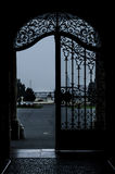 Wrought iron gate Stock Images