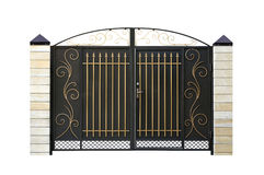 Wrought,  iron  Gate. Stock Photos