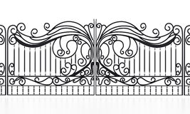 Wrought iron gate isolated on white background. 3D illustration.  royalty free illustration