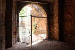 Wrought Iron gate at Laoag Philippines Royalty Free Stock Photos