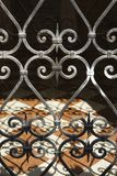Wrought iron gate in Venice, Italy. Stock Image