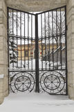 Wrought iron gates. Stock Image
