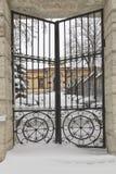 Wrought iron gates. Stock Image