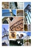 Wrought iron gates stock images