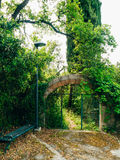 Wrought iron gates. Handmade. Exterior design elements Royalty Free Stock Photo