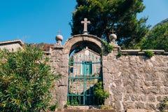 Wrought iron gates. Handmade. Exterior design elements Royalty Free Stock Photos