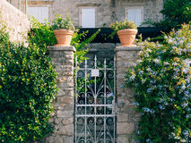 Wrought iron gates Handmade Royalty Free Stock Image