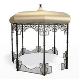 Wrought iron gazebo Royalty Free Stock Photography