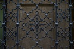 Wrought iron grid Stock Photography