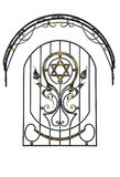 Wrought iron grille Royalty Free Stock Images