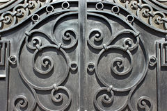 Wrought iron hand made door Stock Photography