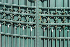 Wrought iron hand made door Stock Photos