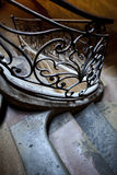 Wrought iron handrail Stock Images