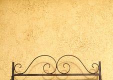 Wrought Iron Headboard Bedframe Stock Image