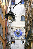 Wrought iron lamp in Venice Royalty Free Stock Photo