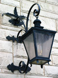 Wrought Iron Lantern. Ornamental wrought iron lantern Royalty Free Stock Photography