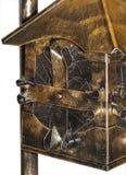 Wrought iron lantern. Isolated wrought iron lantern on a white background Royalty Free Stock Photo