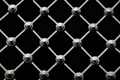 Wrought iron lattice Stock Photo