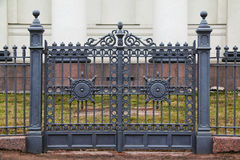 Wrought iron ornamental gates Royalty Free Stock Photo