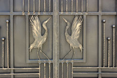 Wrought iron ornaments gates and fence. Wrought iron ornaments for gates and fence Stock Photography