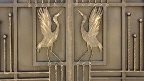 Wrought iron ornaments for gates and fence. Wrought iron ornaments for gates   fence Royalty Free Stock Photos