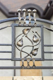 Wrought iron ornaments for gates and fence. Wrought iron ornaments for gates   fence Stock Photography