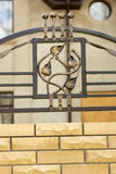 Wrought iron ornaments for gates. And fence Stock Images