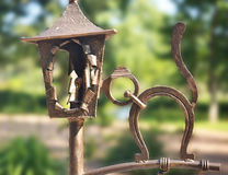 Wrought iron ornaments in the park Royalty Free Stock Photography