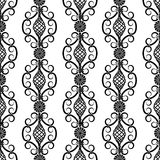 Wrought iron pattern. Vector illustration of forged seamless pattern. Clip art stock illustration