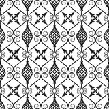 Wrought iron pattern. Vector illustration of forged seamless pattern. Clip art vector illustration