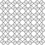Wrought iron pattern. Vector illustration of forged seamless pattern. Clip art royalty free illustration