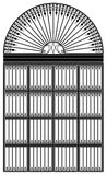 Wrought iron portal Stock Photography