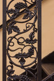 Wrought iron railing detail Royalty Free Stock Images