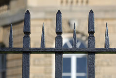 Wrought iron railings Stock Photo