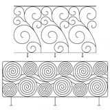 Wrought iron railings Royalty Free Stock Images