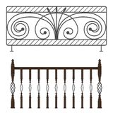 Wrought iron railings. See my other works in portfolio Royalty Free Stock Images