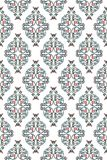 Wrought iron rose vine pattern. Vintage wrought iron pink rose vine as medallion repeat background pattern Royalty Free Stock Images