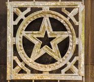 Wrought Iron Russian Star Decoration Royalty Free Stock Photo