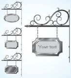 Wrought iron signs for old-fashioned design Royalty Free Stock Image