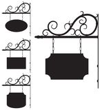 Wrought iron signs for old-fashioned design. Vector wrought iron outline signs for old-fashioned design royalty free illustration