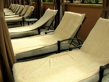 Wrought iron spa lounges Stock Photography