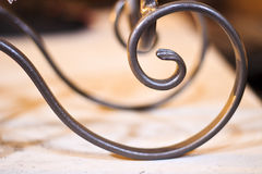 Wrought iron spiral Royalty Free Stock Images