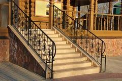 Wrought iron stair railing Royalty Free Stock Photos