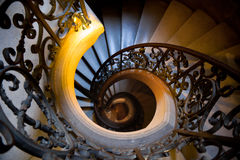 Wrought iron Staircase, top view Stock Photo