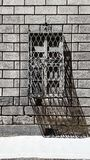 Wrought iron street window in Florence, Italy stock photography