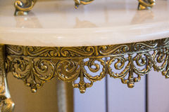 Wrought iron table Stock Image