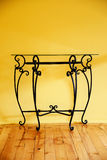 Wrought iron table Stock Photo