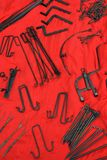 Wrought iron tools Stock Images
