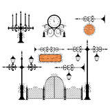 Wrought iron vector set Royalty Free Stock Images